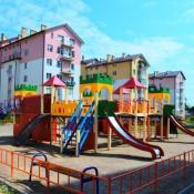 За допомогою громадського бюджету Львова у Винниках спорудили сучасний дитячий ігровий комплекс